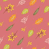 seamless autumn pattern , autumn leaves