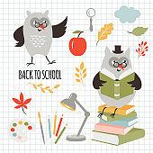 Back to school, vector illustartion