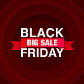 Black Friday big sale, seasonal banner sales.