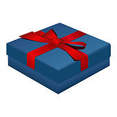 Blue gift box for jewelry