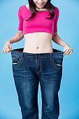woman show weight loss