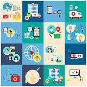 Health and Medical Care Illustration.icons  set healthcare and medical.