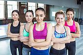 Photo or selfie of sporty women.
