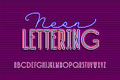 Neon sign lamp font
