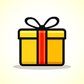 Vector gift box design icon