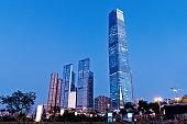 Modern office buildings in Hong Kong