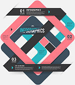 Modern style, options banner. Web design, infographics. Number options. Pink