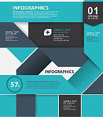 Modern style, options banner. Web design, info graphics. Number options