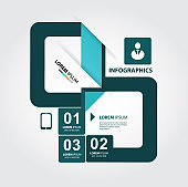 Modern style, options banner. Web design, infographics. Number options. NEW