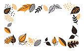Fall, Autumn season vector illustration, banner, background