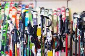 Image of modern skis