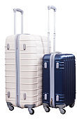 Two standing suitcases