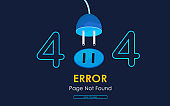 404  error page not found vector  plug graphic background