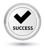 Success (validate icon) prime white round button