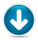 Download arrow icon special prime blue round button