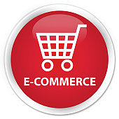 E-commerce premium red round button
