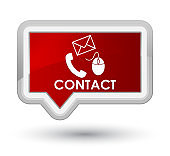 Contact (phone email and mouse icon) red prime banner button