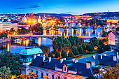Evening scenery of Prague, Czech Republic