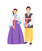 Korean clothing vector