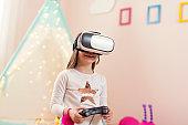 Plying VR video games