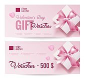 Gift Voucher Coupon discount for Happy Valentine's Day