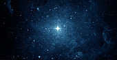 Beautiful night sky. Abstract background. Elements of this image furnished by NASA.