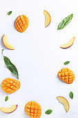 mango and peach background