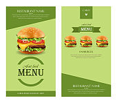 Hamburger retro menu Vector. detailed template lay out product designs