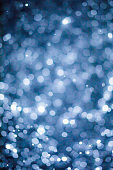 Abstract Blurry Snowflakes Bokeh Overlay Filter Effect