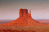 View on East Mitten Butte in Monument Valley. Arizona.