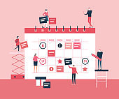 Business planning - flat design style illustration