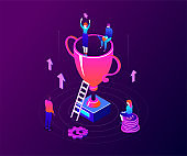 Business success - modern colorful isometric vector illustration