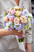 Woman with wedding bouquet
