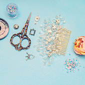 nail art tools and jewelry for brides