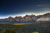 colorful nevada mountains at redrock canyon park near