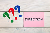 Direction in business concept