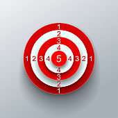 Red target – vector