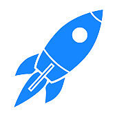 Startup, rocket concept – vector for stock