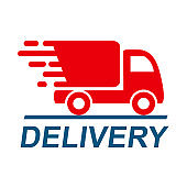 Delivery truck, fast shipping service – vector
