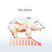 Bear market. Low poly