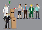 Rich Man Buying Votes Through Bribery Vector Illustration