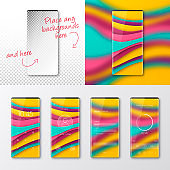 Modern smartphones templates - mobile phone isolated on blank background