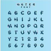 Water Font Set