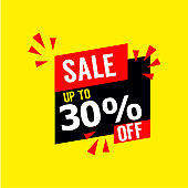 Sale up to 30% Off Vector Template Design Illustration