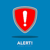 Warning symbol. Cyber attack