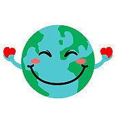 Happy globe image