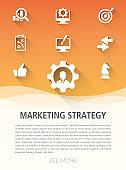 Marketing Strategy Flat Icon Set