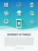 Internet Of Things Flat Icon Set