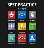 Best Practice Flat Icon Set - Illustration