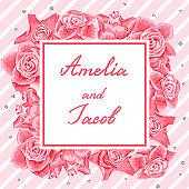 Wedding invitation or greeting card